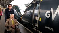 Ex-railwayman chuffed to mark 100th on new train
