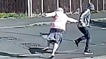 Shocking CCTV moment as pensioner is mugged