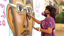 فنانة الغرافيتي السودانية أصيل دياب: أجهز نفسي جسدياً وذهنياً قبل الخروج للشارع