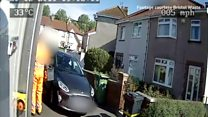 Warning after near-misses with bin workers
