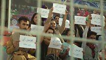 'ابراز همبستگی دختران افغان  با  'دختر آبی