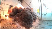Explosive test at a Dutch laboratory