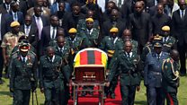 African leaders pay respects at Mugabe funeral