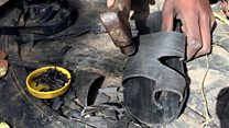 'I make 50 pairs of sandals a day from used tyres'
