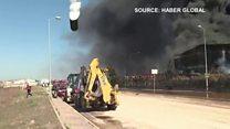 بالفيديو: انفجار ضخم في مصنع للكيماويات في إسطنبول