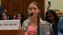 Greta tells Congress to 'listen to scientists'