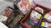 Why is meat piling up at US food banks?