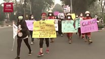Demo pelajar lawan perubahan iklim: 'Selesaikan kebakaran hutan 22 tahun di Kalimantan'