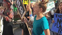 Young climate protester