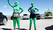Alien enthusiasts attend 'Storm Area 51' event