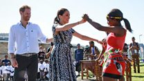 Harry and Meghan dance in South Africa
