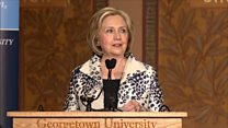Clinton condemns Trump's 'cheap extortion racket'