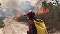 The volunteer firefighters battling to save the Amazon