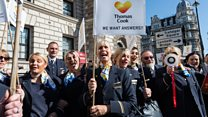 Thomas Cook employees protest at Parliament
