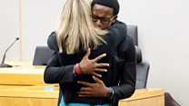 Jean's brother to ex-cop: Can I give her a hug?