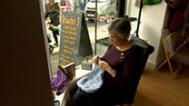 Knitting 2,020 jumpers and cardigans for refugees