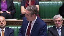 Starmer: PM 'descending into Brexit blame game'