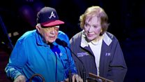 Jimmy Carter attends event with a black eye