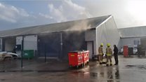 Staff  'saved' £11m of cars from 'incredible' fire