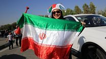 Iranian women attend football match