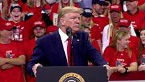Trump rally's new hate figures - the Bidens