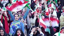 Matan Iran sun fara zuwa kwallon kwallo