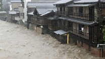 Severe flooding as Typhoon Hagibis hits Japan