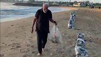 India's PM picks litter