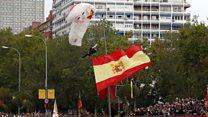 İspanya Milli Günü'nde paraşüt kazası