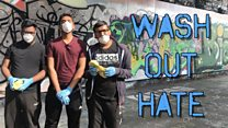 Washing out hateful graffiti