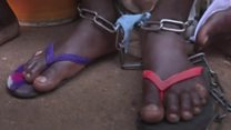 Men and boys chained up at Islamic 'school'