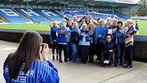 Photographing the female fans of Bury FC