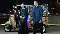 William and Kate travel by auto rickshaw