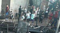 آتشسوزی در اردوگاه واتی در جزیره ساموس، هزاران نفر این اردوگاه را تخلیه کردند