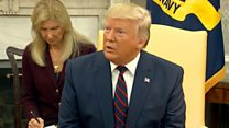 Trump on meeting Harry Dunn's parents