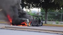 Gun battles and burning cars in Mexican city