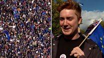 Марш против брексита: десятки тысяч протестующих на улицах Лондона