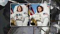 اولین راهپیمایی مستقل دو زن فضانورد بیرون از ایستگاه فضایی بین المللی