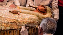 Mummies excavated in Egypt