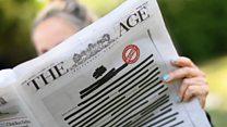 روزنامههای استرالیایی با سانسور به جنگ سانسور رفتند