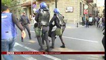 «Свобода» и «Отставка».  Жесткие задержания протестующих в Баку