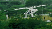 Flying taxi makes Singapore debut