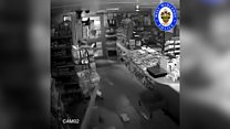 Shop CCTV shows cars dragging away cash machines