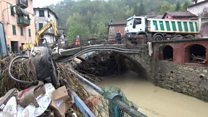 Flooding hits village in N Italy