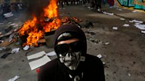 Violence and detentions in Chile amidst austerity protests