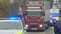 Lorry containing 39 bodies moved to new location