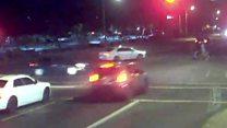 Couple's car crash near-miss