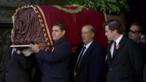 Franco's coffin removed from vast mausoleum