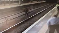 Man runs on rail tracks after 'vicious' assaults