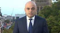 Javid: 'We won't be able to leave on 31 October'